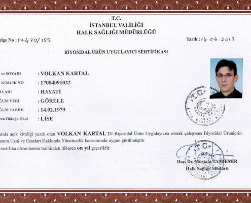 visionpest sertifikalar, ilaçlama sertifikaları, hijyen kontrol sertifika, pest kontrol sertifika